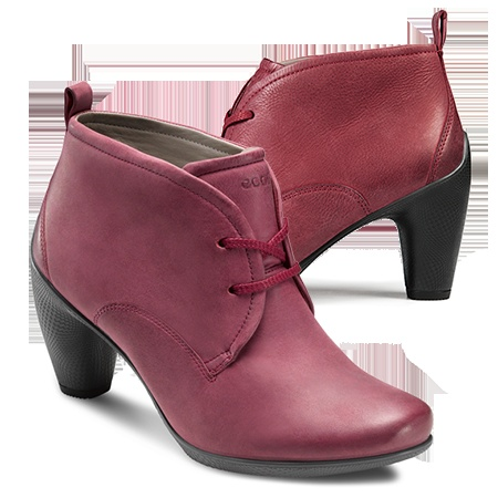 Such a Delicious Color... ECCO SCULPTURED 65 - Low Cut Lace Boot #eccosmile #sculptured65
