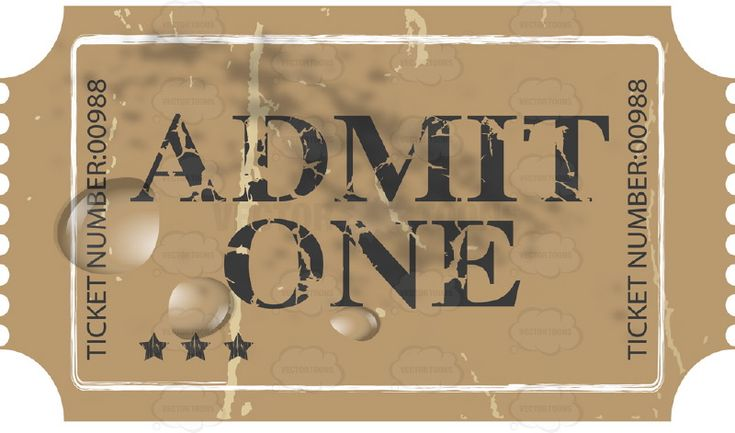 Worn Brown Ticket Stub 'Admit One' With Water Droplets #admission #admit #antique #arts #box #cardboard #cinema #complex #concert #creases #crumpled #crushing #damaged #design #dirty #distressed #element #entertainment #entry #event #fashioned #folding #grained #grunge #house #leisure #movie #music #office #old #paper #PDF #performance #performing #premiere #pressing #recreation #retro #rough #rustic #stub #textured #theater #ticket #time #vectorgraphics #vectors #vectortoons ...