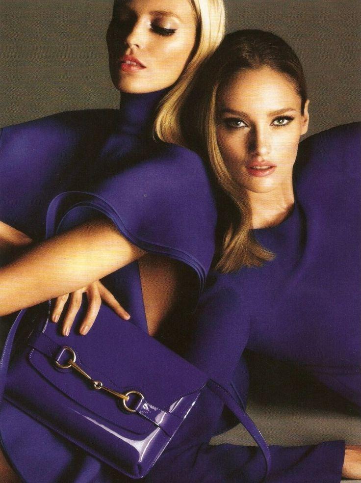 Anja Rubik & Karmen Pedaru for Gucci S/S 2013 Campaign