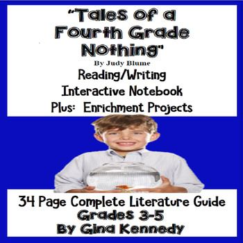 Tales of a Fourth Grade Nothing Novel Study & Enrichment P