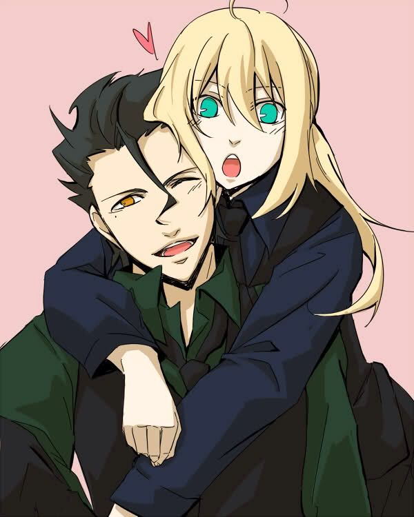 Diarmuid Ua Duibhne and Arturia Pendragon