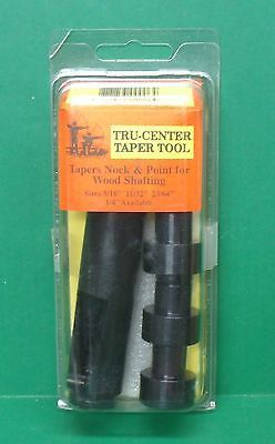Archery Tools 181302: New 3 Rivers Archery Tru-Center Taper Tool For Wooden Arrows - 5/16 11/32 23/64 BUY IT NOW ONLY: $47.95