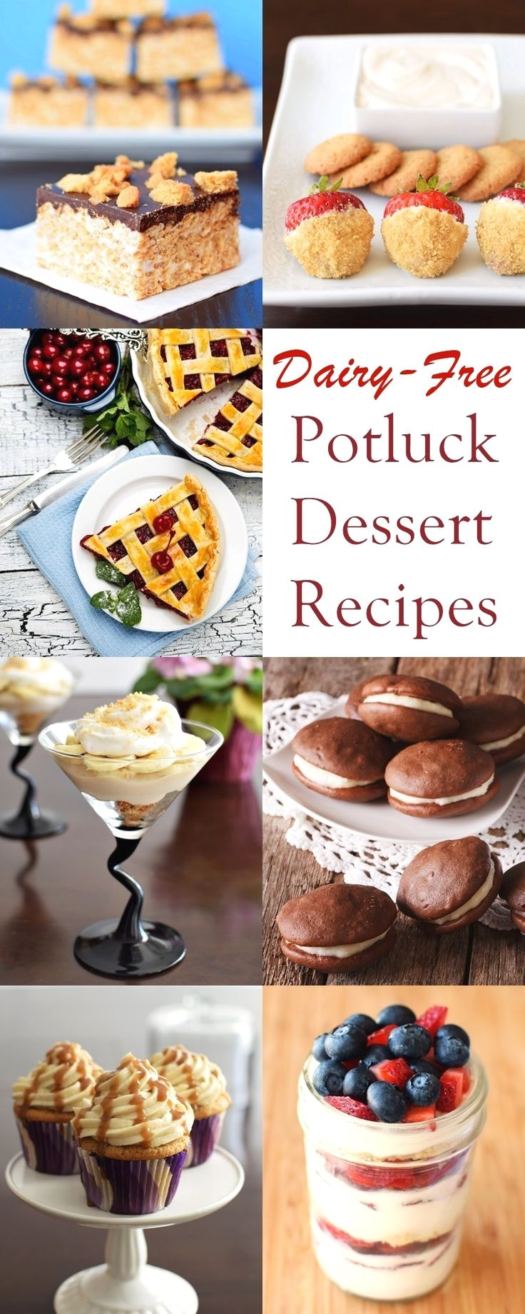 These potluck dessert recipes are delicious, easy treats for barbecues, patio pa…