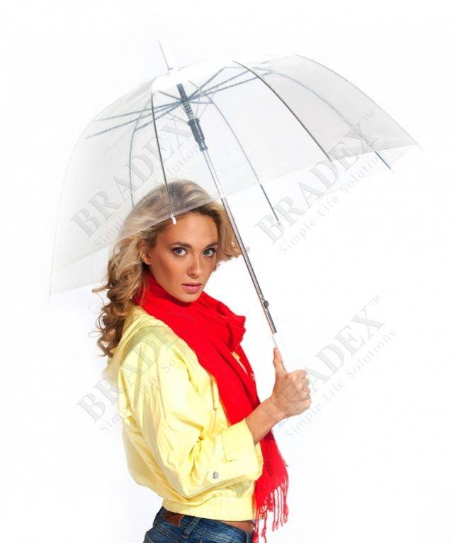 Зонт-трость «ПРОЗРАЧНЫЙ КУПОЛ» АРТИКУЛ: SU 0009 Ищете зонт, идеально подходящий к любой одежде? Любите наблюдать за стекающими дождевыми каплями? Покупаете только модные и стильные аксессуары? Эти и многие другие Ваши капризы удовлетворит оригинальный зонт-трость «Прозрачный купол». Это революционное изобретение, покорившее модниц всех континентов. С ним Вы выглядите лёгким, почти сказочным созданием, привлекающим внимание окружающих, а мерцающий прозрачный купол только подчеркивает Вашу…