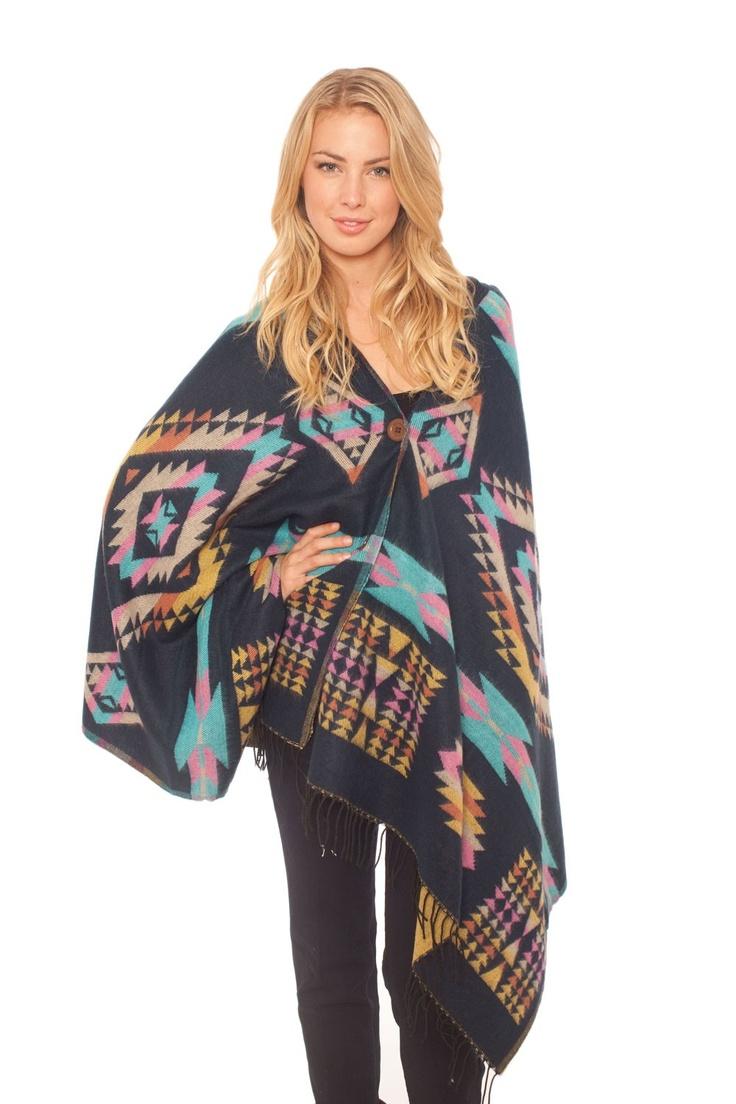 Spun by Subtle Luxury Navajo Poncho