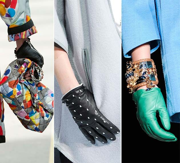 Fall/ Winter 2014-2015 Accessory Trends: Short Gloves  #gloves #accessories