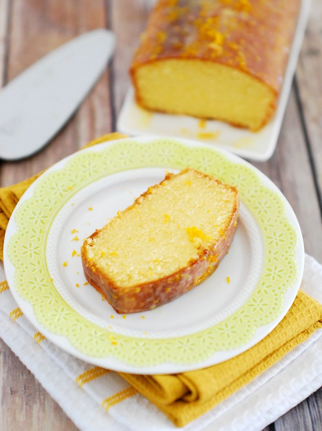 Learn how to make the perfect pound cake - moist dense and buttery. Simple and easy orange pound cake with step by step pictures.
