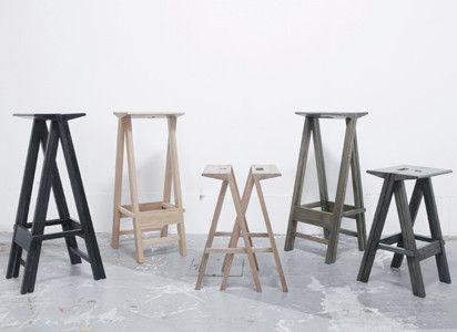 Zweiteilige Stühle By Yuya Kurat. StoolsDining TableNews StoriesMantels Furniture IdeasSmall SpacesIndustrialChairsBenches