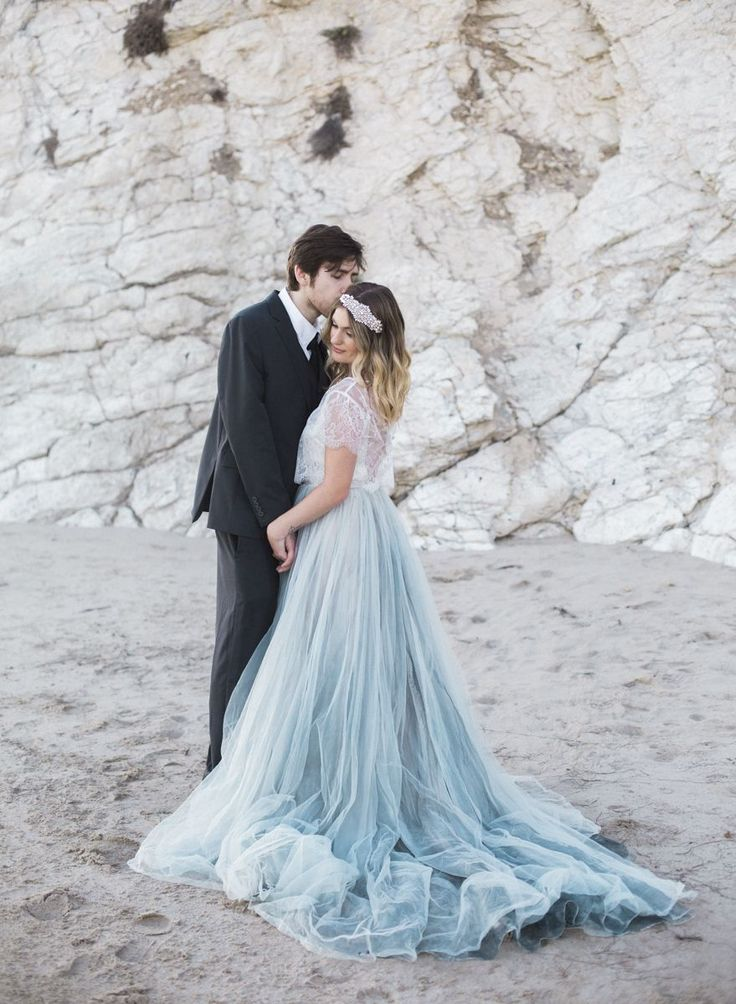 Best 25 pastel wedding dresses ideas on pinterest pastel dusty blue beach wedding inspiration junglespirit Gallery