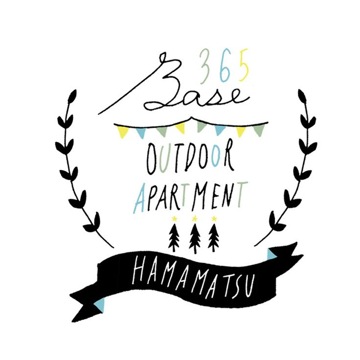 「365BASE outdoor apartment hamamatsu」バナー用イラスト
