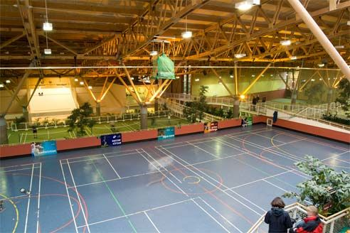 Indoor Sports Hall at Center Parcs Whinfell Forest by Center Parcs UK, via Flickr