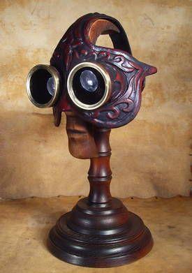 Steampunk Venetian mask - steampunk mask-maker Bob Basset's foray into goggled-out Venetian carnival masks.