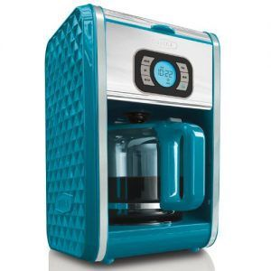 This is one heck of a stylish coffee maker. With its powerfully back-lit LED display and 5.6 pounds design, the coffee maker has all the features of an expensive coffee-maker and checks all the ticks when it comes ergonomics.