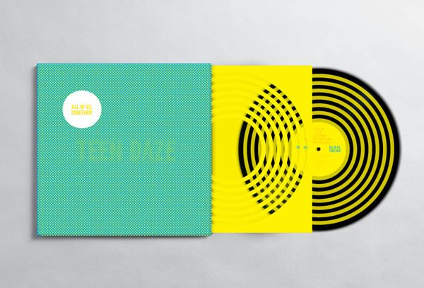 Teen Daze conceptual album cover and sleeve design by Chris Dawson, #illustration #vynil #print