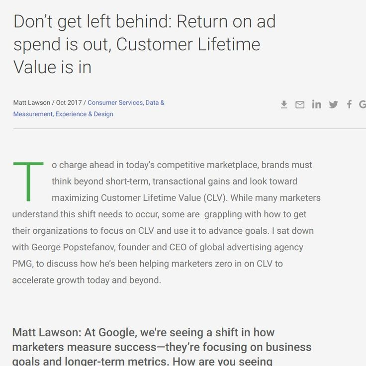 marketing and lifetime value Customer lifetime value can determine the success of your ecommerce business customer lifetime value informs nearly every business decision, but none more than ad and marketing spend first, you need to nail down the clv that will be your north star.