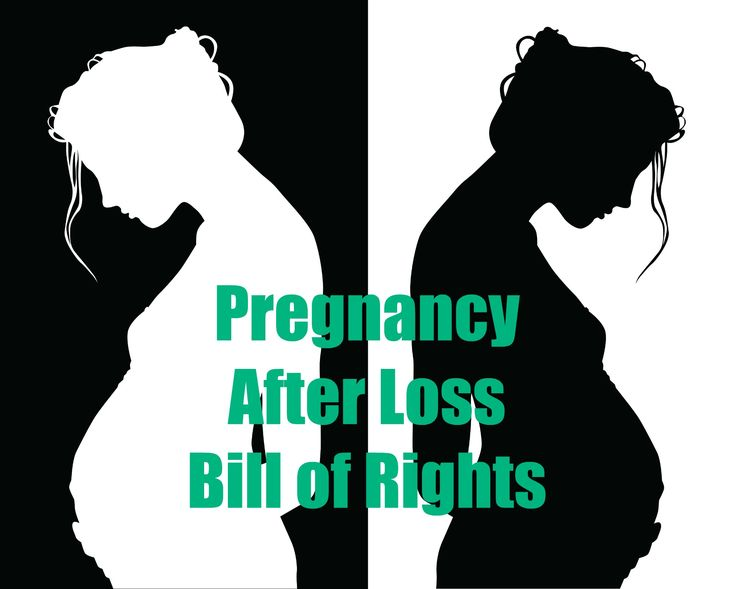 My Pregnancy After Loss Bill of Rights I have the right to grieve my child or children that have died and/or the previous pregnancies I have lost. I have the right to be sad about my loss(es) during my current pregnancy.