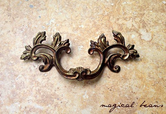 """KBC French Provincial Brass Drawer Pulls available in 2 sizes 6"""" & 5"""" by MagicalBeans Home.com"""