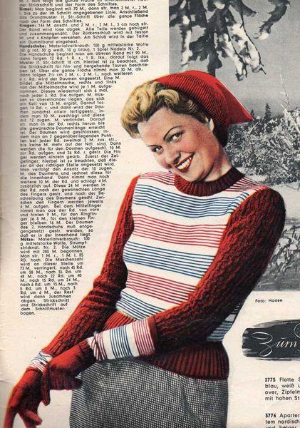 Skimode in den 1950er Jahren
