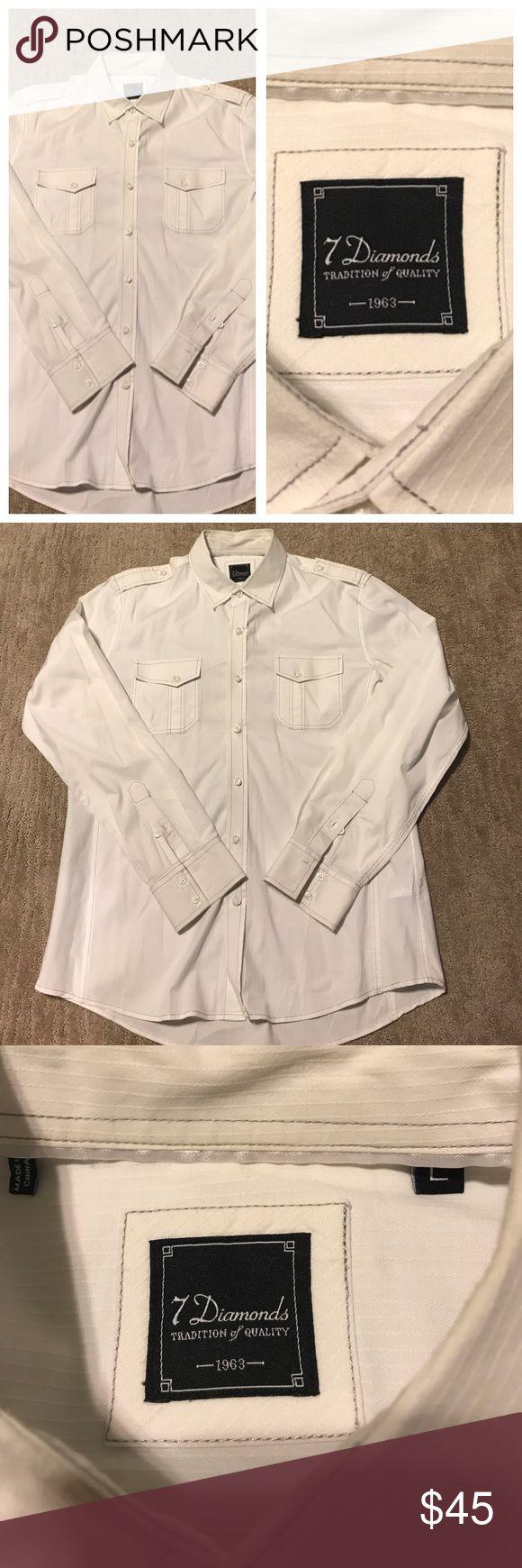 Men's 7 Diamonds Button-Up Shirt Great condition, hardly worn! Men's 7 Diamonds Shirt. Size large 7 Diamonds Shirts Dress Shirts