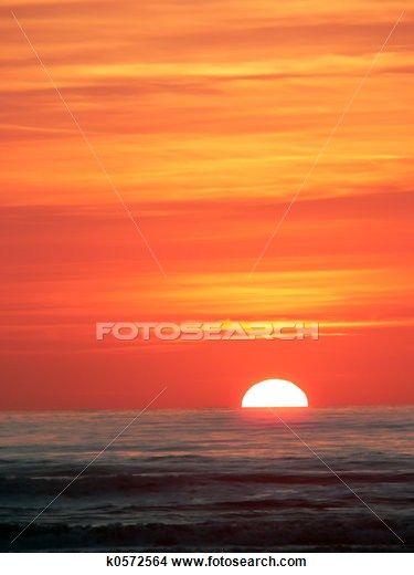 Sunset in Viareggio, Tuscany
