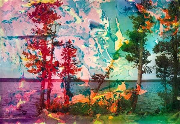 Submerged Landscape Portraits - These Matthew Brandt Water ...