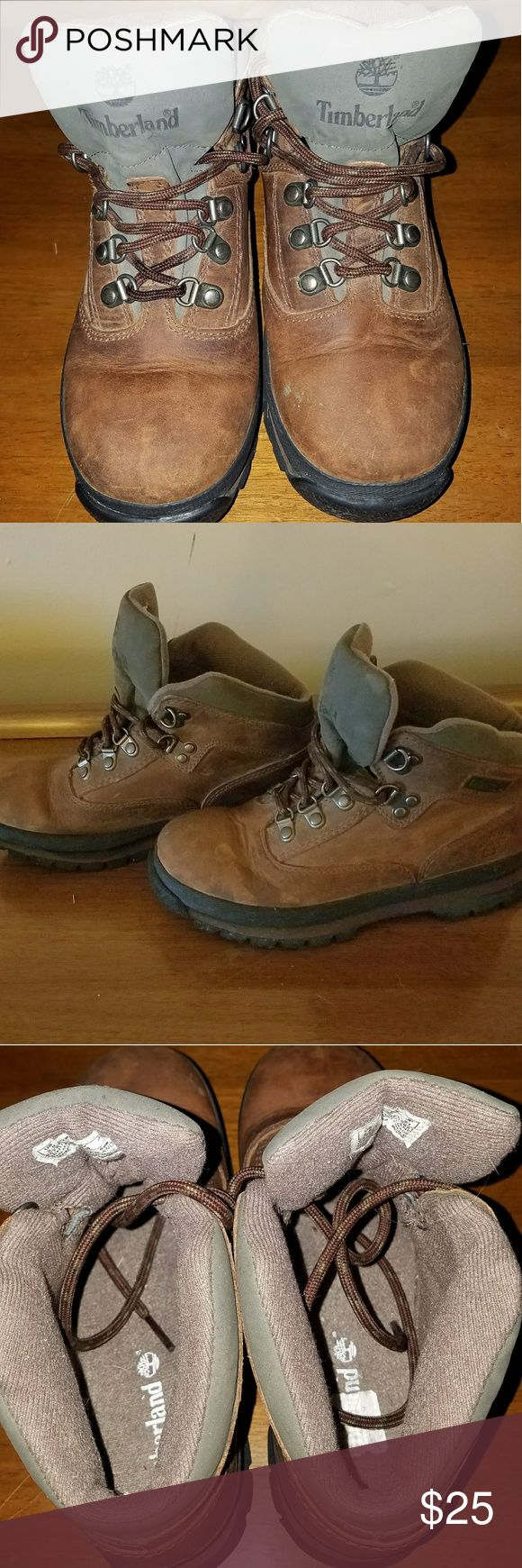Boy's Hiking Boots Great pair of boots!!  Only worn a handful of times.  You can still see the price label on the inside!  My son outgrew them before he could get any wear out of them. Timberland Shoes Boots