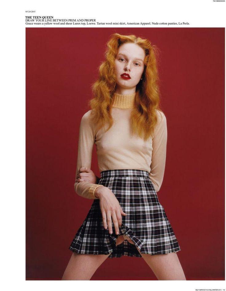 'Teen Queen' Self Service magazine Fall Winter 2015 Photoshoot