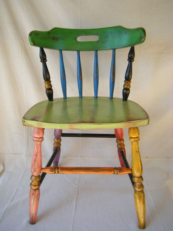 Boho Chic Hand Painted Chair