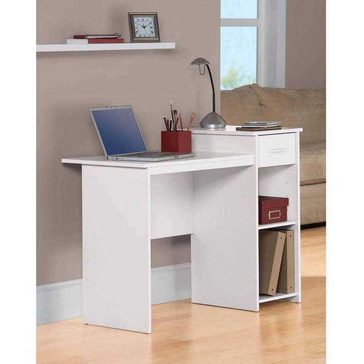 Office Student Desk Computer Workstation Home Storage Furniture Modern New White #1