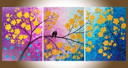Cuadros del arbol de la vida para living buscar con for Ideas para pintar cuadros