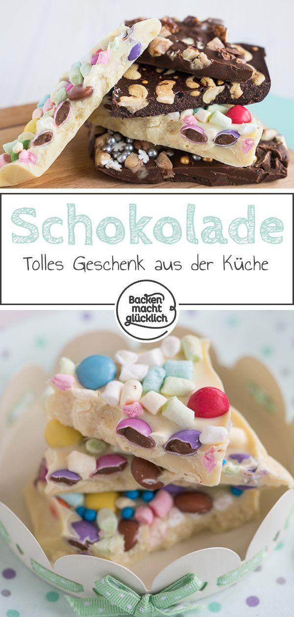 Selbstgemachte Schokoladentafeln Rezept Geschenke Aus Der Küche