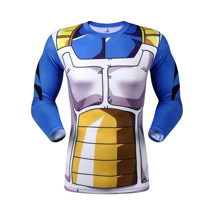 2016 Hombres 3D Dragon Ball ZT 3D Camisa de Manga Larga T Shirt Tops Camisetas Camisa de Compresión de Fitness en Camisetas de Ropa y Accesorios en AliExpress.com | Alibaba Group