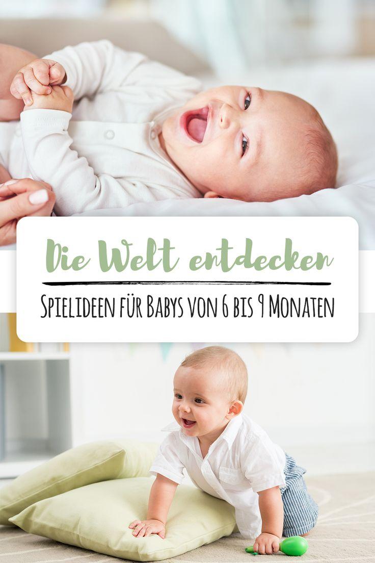 Babys ab dem 6. Monat sind voll und ganz angekommen im Hier und Jetzt - und gieren nach Beschäftigung.