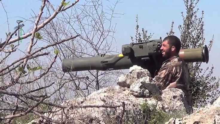 Syria - FSA rebels firing BGM-71 TOW against tank in Latakia 31/3