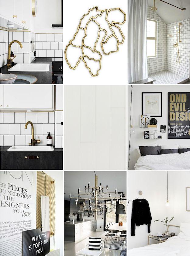 BLACK // WHITE // BRASS | Knock on Wood | Scandinavian Interior Design  Inspiration