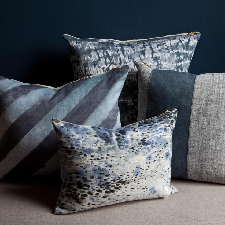 Diagonal Dip Dyed Stripe pillow by Rebecca Atwood