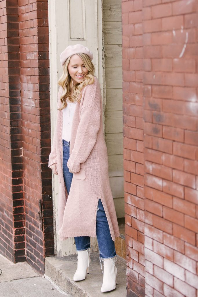 How to Wear a Pink Beret for a Spring Transitional Outfit  c6e9a6c54