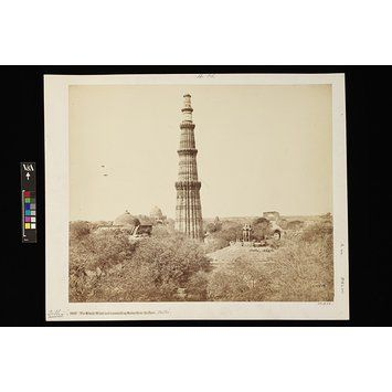 The Kutub Minar and surrounding Ruins, from the east, Delhi | Bourne, Samuel | V&A Search the Collections
