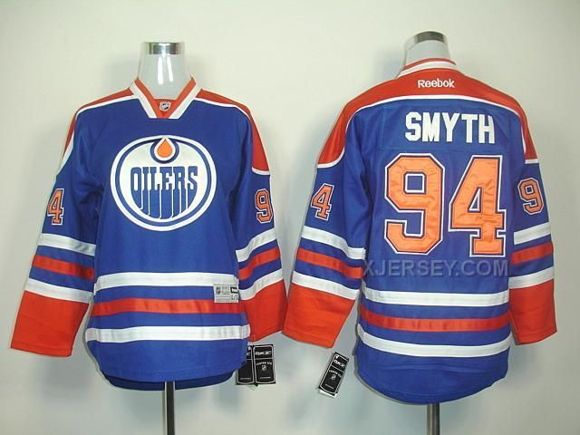 ... oilers blank orange reebok jersey nhl edmonton oilers ryan smyth youth  home hockey jersey royal blue ... 0434067be