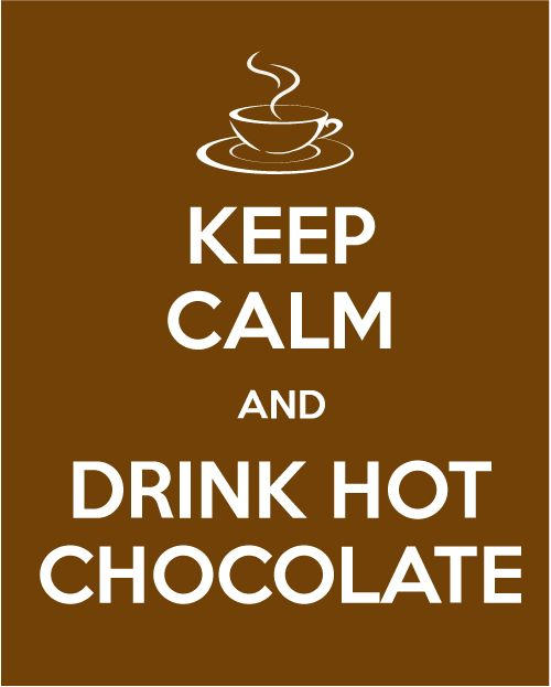 "Etichetta ""Keep calm and drink hot chocolate"""