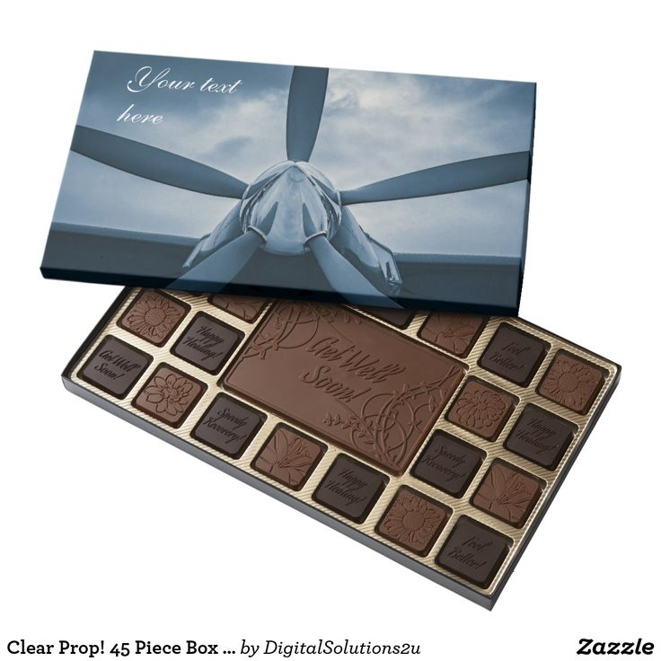 Clear Prop! 45 Piece Box Of Chocolates