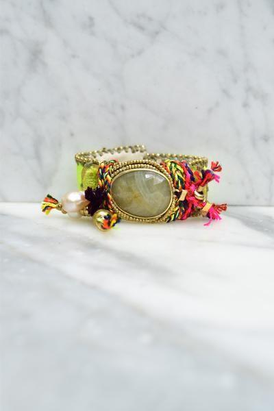Manhattan neon green bracelet – de petra