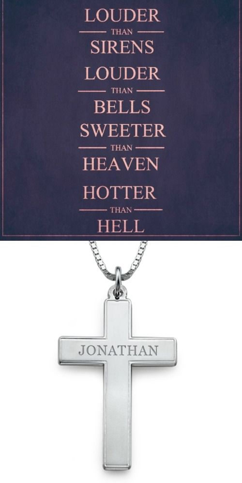https://www.neatie.com/Personalised-Jewellery/Mens-Personalised-Cross-Necklace  #Engrave anything you would like on the Men's #Personalised #Cross #Necklace !  This personalised necklace for men is made out of 0.925 Sterling Silver and comes with a one size only Sterling Silver Box Chain.
