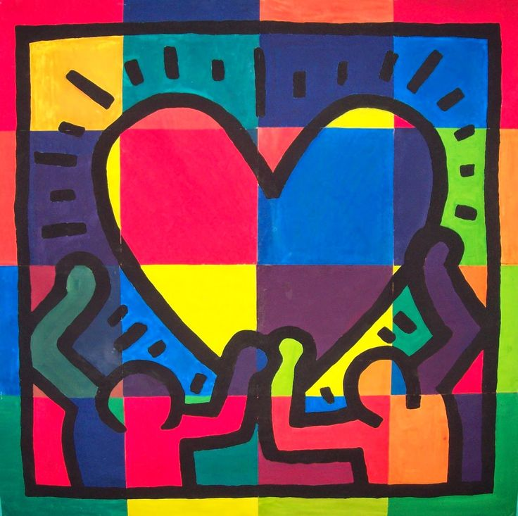 my artful nest: all you need is love... Keith Haring