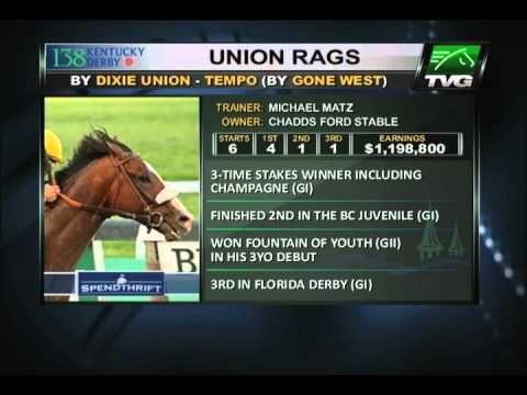 TVG Kentucky Derby 138 Profile - Union Rags - Horse Racing News videos