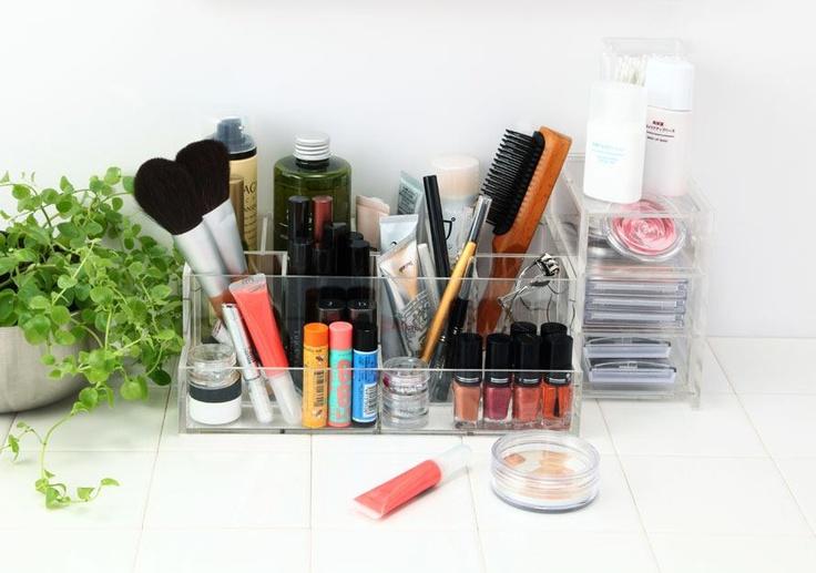 Acrylic Stand - Large  http://www.muji.us/store/storage/acrylic-cases/acrylic-stand-l.html  Acrylic Rack - Small  http://www.muji.us/store/storage/acrylic-cases/acrylic-rack-s.html
