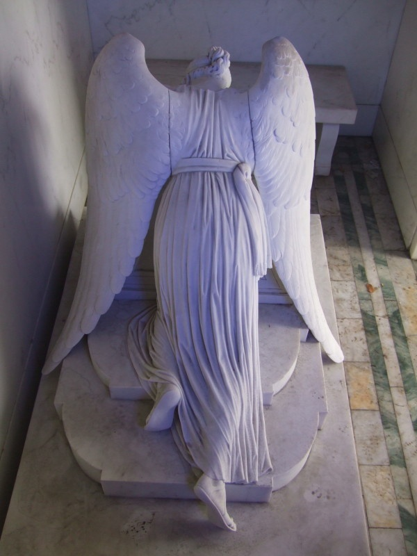 Metairie Cemetery -- the Weeping Angel (and other interesting tomb stones)