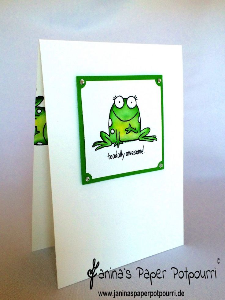 144 best Frog Cards images on Pinterest | Frogs, Craft ideas and ...