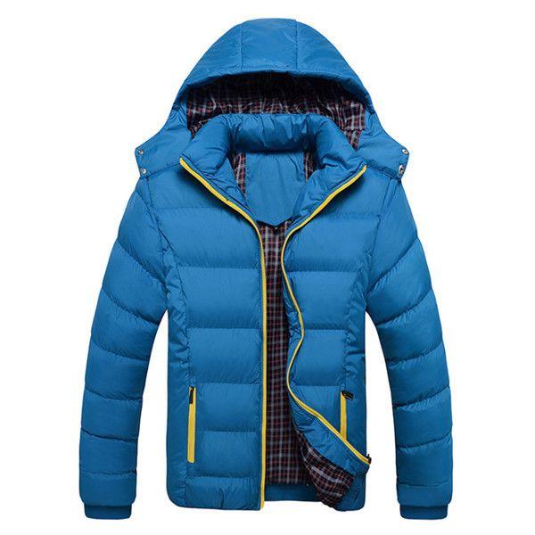 Man Winter Jacket Warm Coat Thick Parka Men Coats Jackets Slim Fit Outwear Casual Clothing