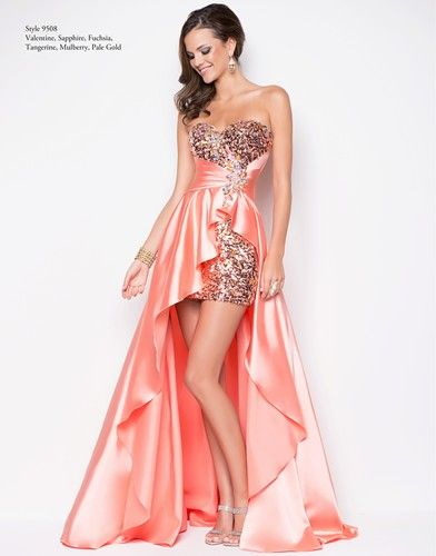 17 best images about Orange/Peach Prom Dresses on Pinterest | Prom ...